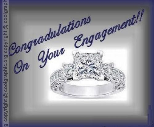 Congratulations On Your Engagement Ring Image