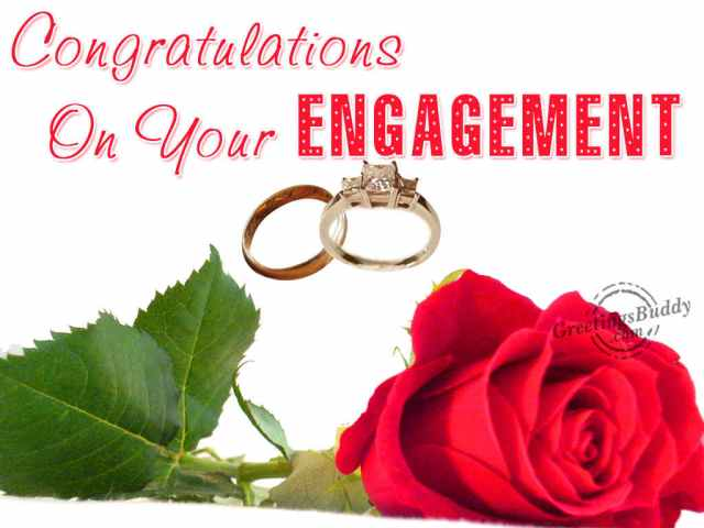 Congratulations On Your Engagement Rose Picture