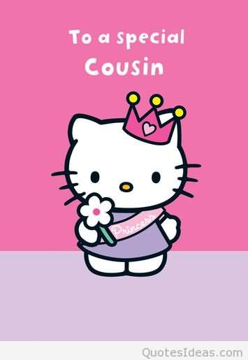 Cute Birthday Greeting Card For Sweet Cousin