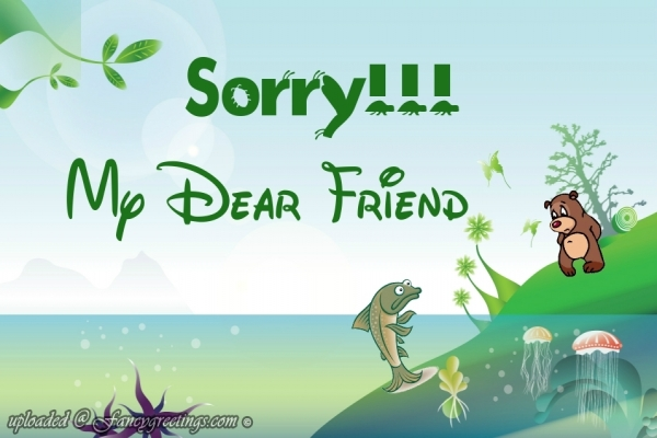 Cute Sorry My Dear Friend Graphics
