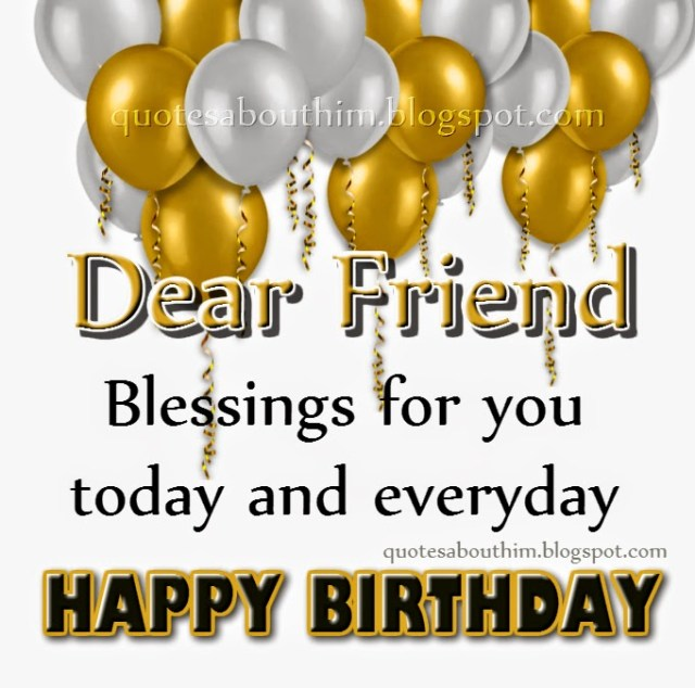 Dear Friend Happy Birthday Blessing & Greeting Picture