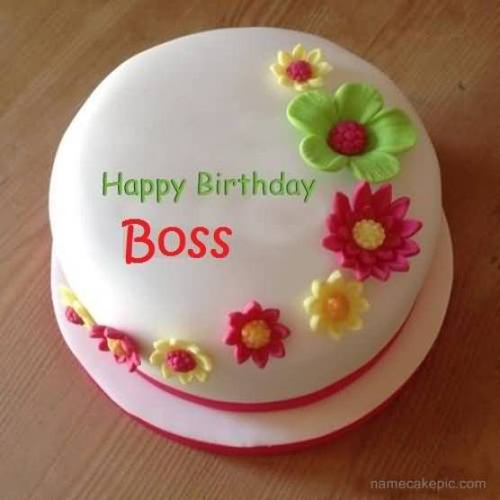 Delicious Happy Birthday Wishes Cake For Great Boss
