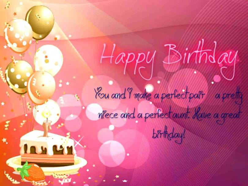 Fabulous Aunt Birthday Wishes Greetings Image