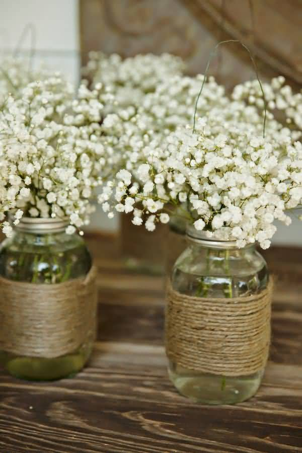 Fabulous Baby's Breath Flower Vase For Home Decoration