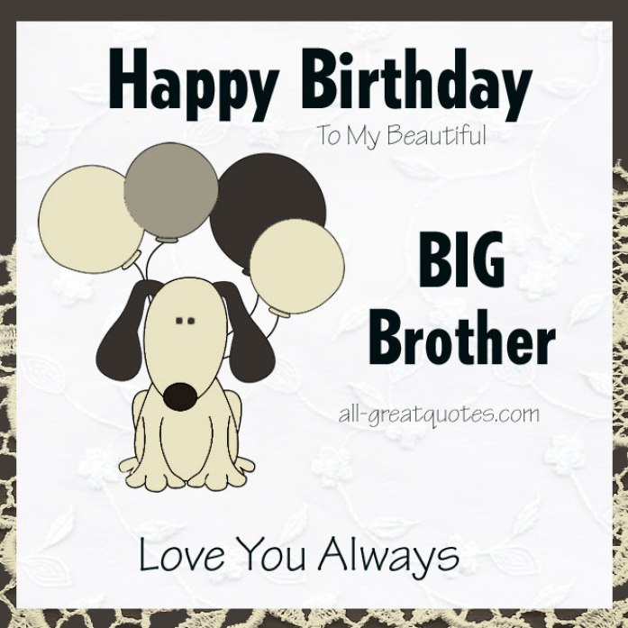 Fantastic Big Brother Happy Birthday Greeting Card