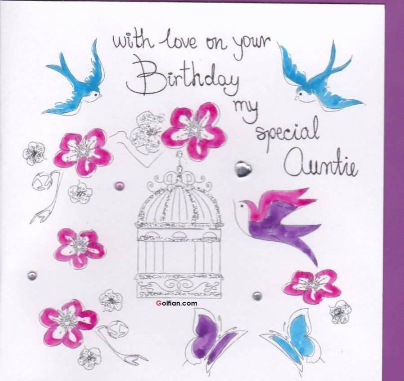 Fantastic Happy Birthday Wishes E Card For Lovely Aunt