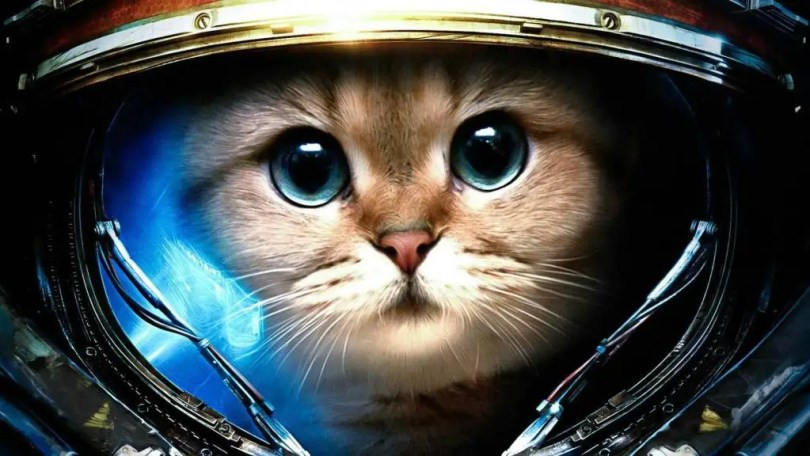Fantastical Cat As Astronaut 4K Wallpaper