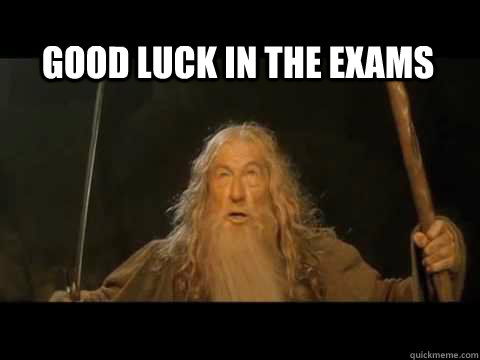 Funny Good Luck In The Exams Meme