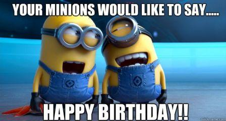 Funny Minion Birthday Wishes Image
