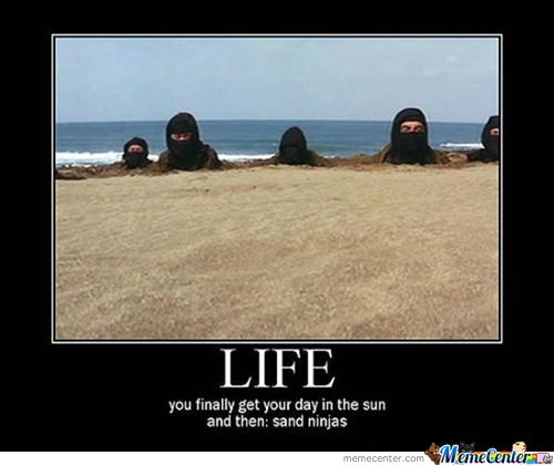Funny Ninja Memes Life You Finally Get Your Day In The Sun And Then Sand Ninjas Picture