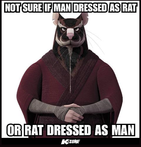 Funny Ninja Memes Not Sure If Man Dressed As Rat Or Rat Dressed As Man Image