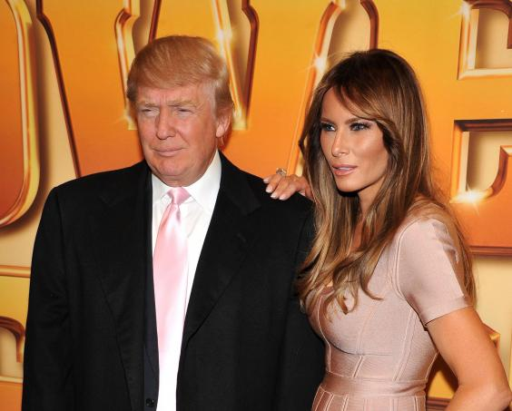 Melania With Donald Looking Very Gorgeuos In Pink