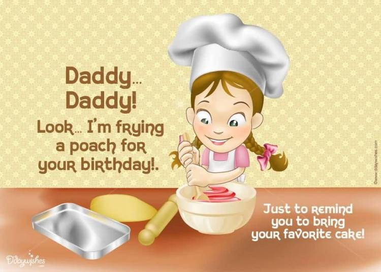 Girl Wishes Greeting Message For Dad Image