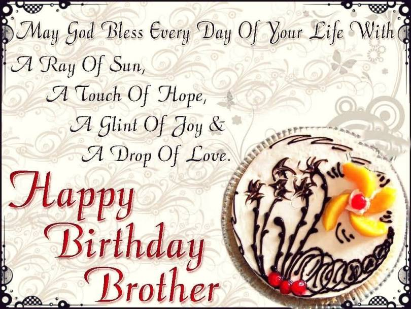 God Bless Birthday Greeting Image For Brother