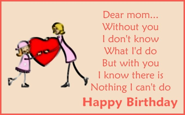 God Bless Mom Birthday Greeting Quotes Picture