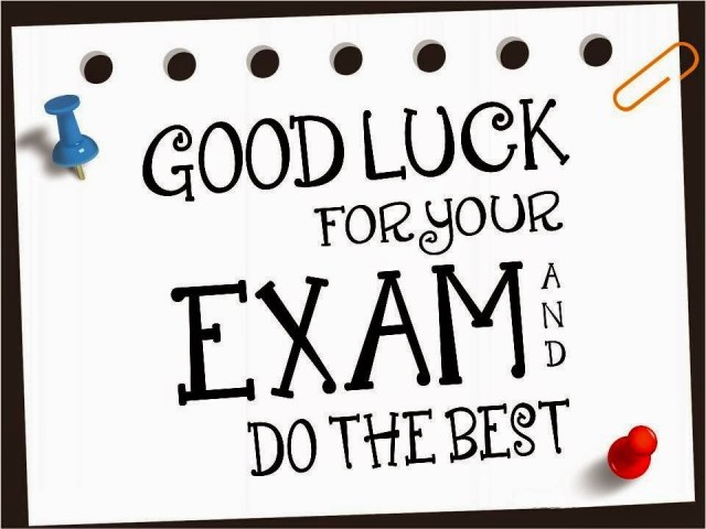 Good Luck For Your Exam And Do The Best Picture