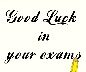 Good Luck In Your Exam Graphic