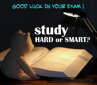 Good Luck In Your Exam Study Hard Wishes