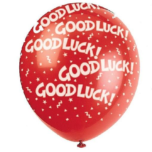 Good Luck Red Balloon Image