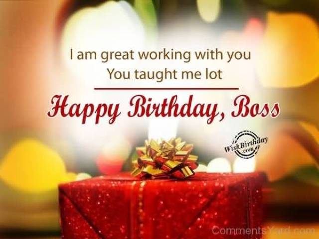 Great Boss Birthday Wishes Image