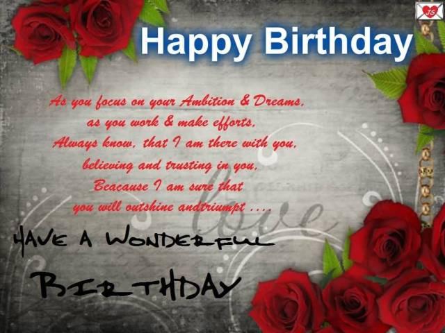 Great Happy Birthday Quotes For Wonderful Boyfriend