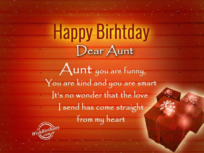 Great Happy Birthday Wishes For Lovely Aunt