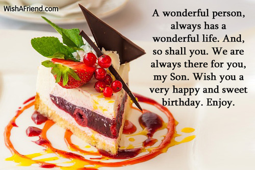 27 Heart Touching Son Birthday Wishes For Parents And Others – Birthday Greetings Son