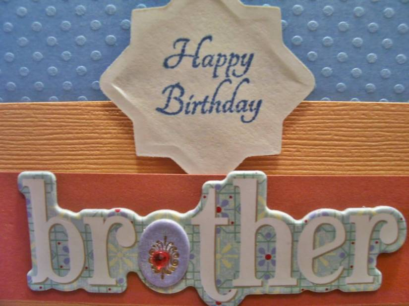 Happy Birthday Brother Homemade Greeting Card Design