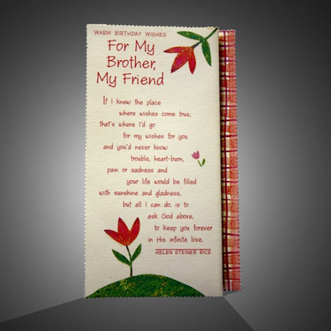 Happy Birthday Card For Special Brother Image