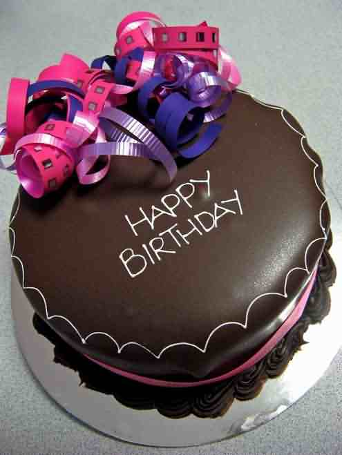 Happy Birthday Chocolate Cake Wishes Image