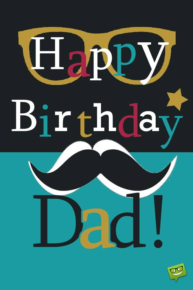 Happy Birthday Dad Card Wishes Image