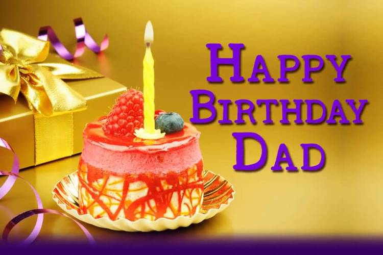 Happy Birthday Dad With Cupcake Image