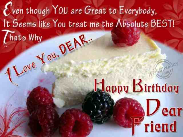 Happy Birthday Dear Friend Best Wishes Picture