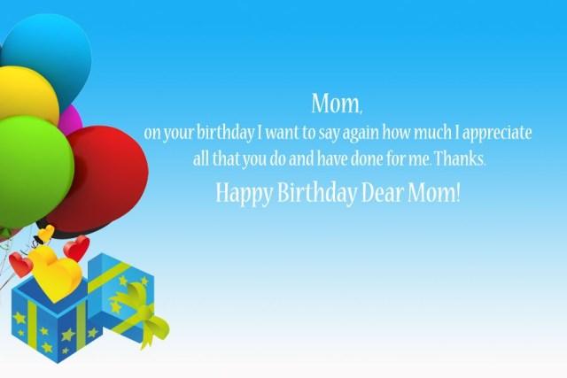Happy Birthday Dear Mom Image
