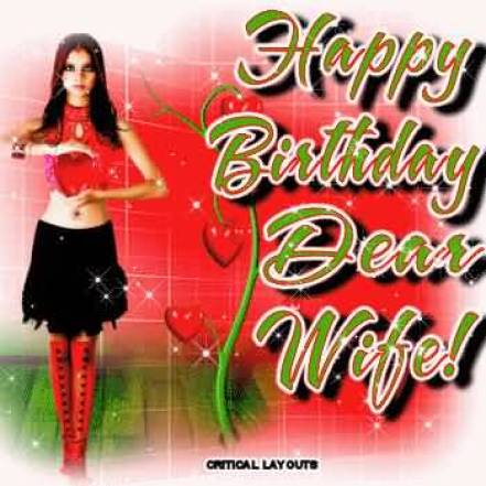 Happy Birthday E-card For Wife Image