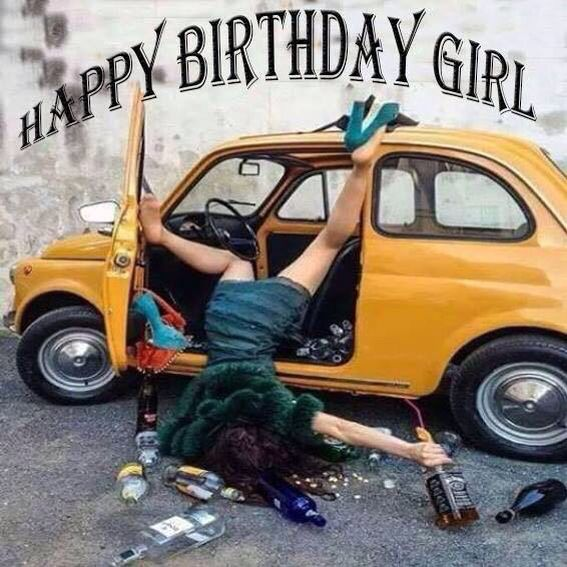 Happy Birthday Girl Funny Image