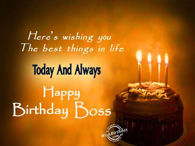 Happy Birthday Greeting Image For Boss