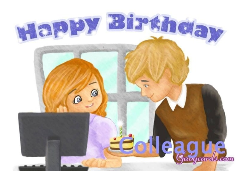Happy Birthday Lady Colleague Greeting Image Coworker Birthday Wishes