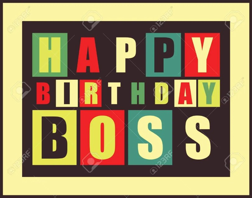 Happy Birthday Message For Great Boss