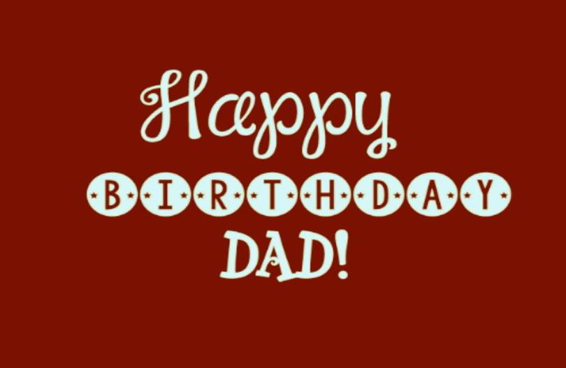 Happy Birthday Picture For Lovely Dad