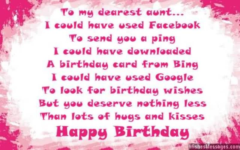 Happy Birthday Poem For Dear Auntie