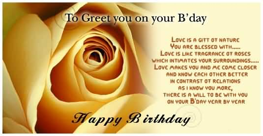 Happy Birthday Poem For Someone Very Special