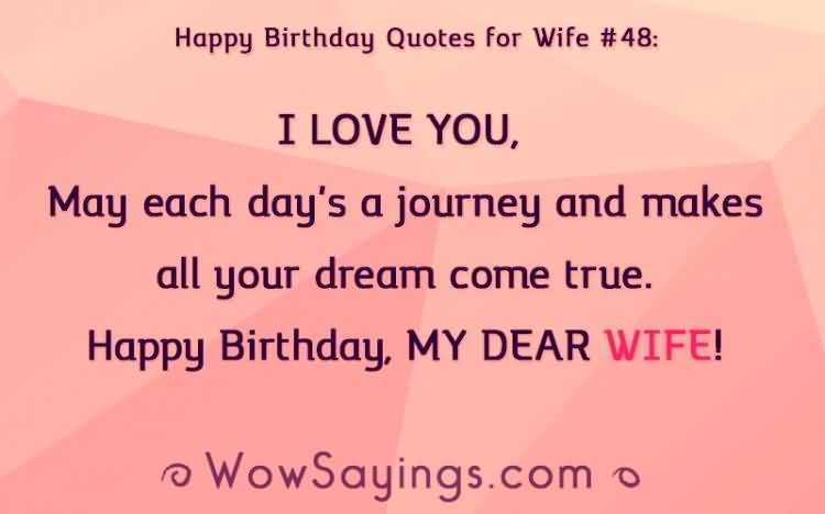 Happy Birthday Quote For Dear Wife
