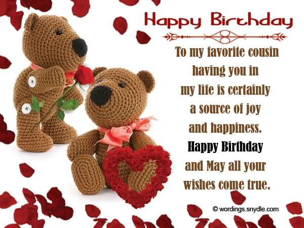 Happy Birthday Quotes For Favorite Cousin