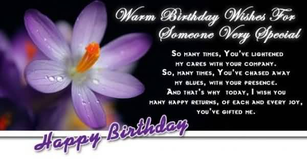 Happy Birthday Quotes To Someone Special