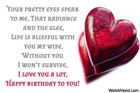 Happy Birthday Wife Beautiful Message