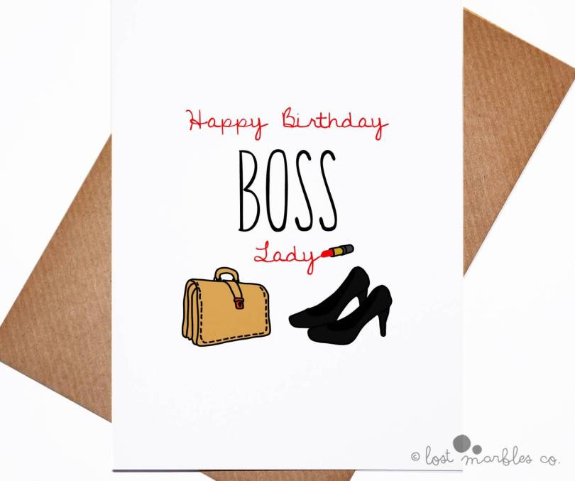 Happy Birthday Wishes Card For Lady Boss