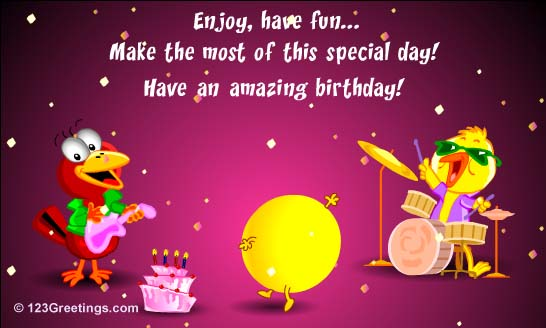 Happy Birthday Wishes Cartoon Image