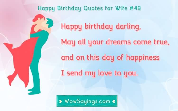 Happy Birthday Wishes For Darling