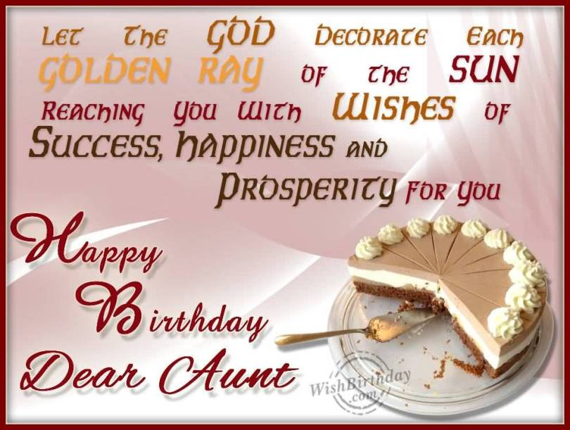 Happy Birthday Wishes For Lovely Aunt